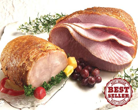 Best Seller Honey Glazed Half Holiday Ham With Glazed Turkey Breast