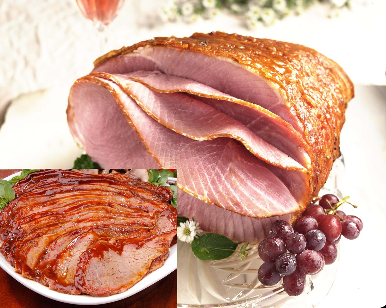 Holiday Ham with Hickory Smoked Sliced Beef Brisket