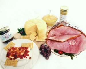 Holiday Ham Swiss Cheese Wheel Combo